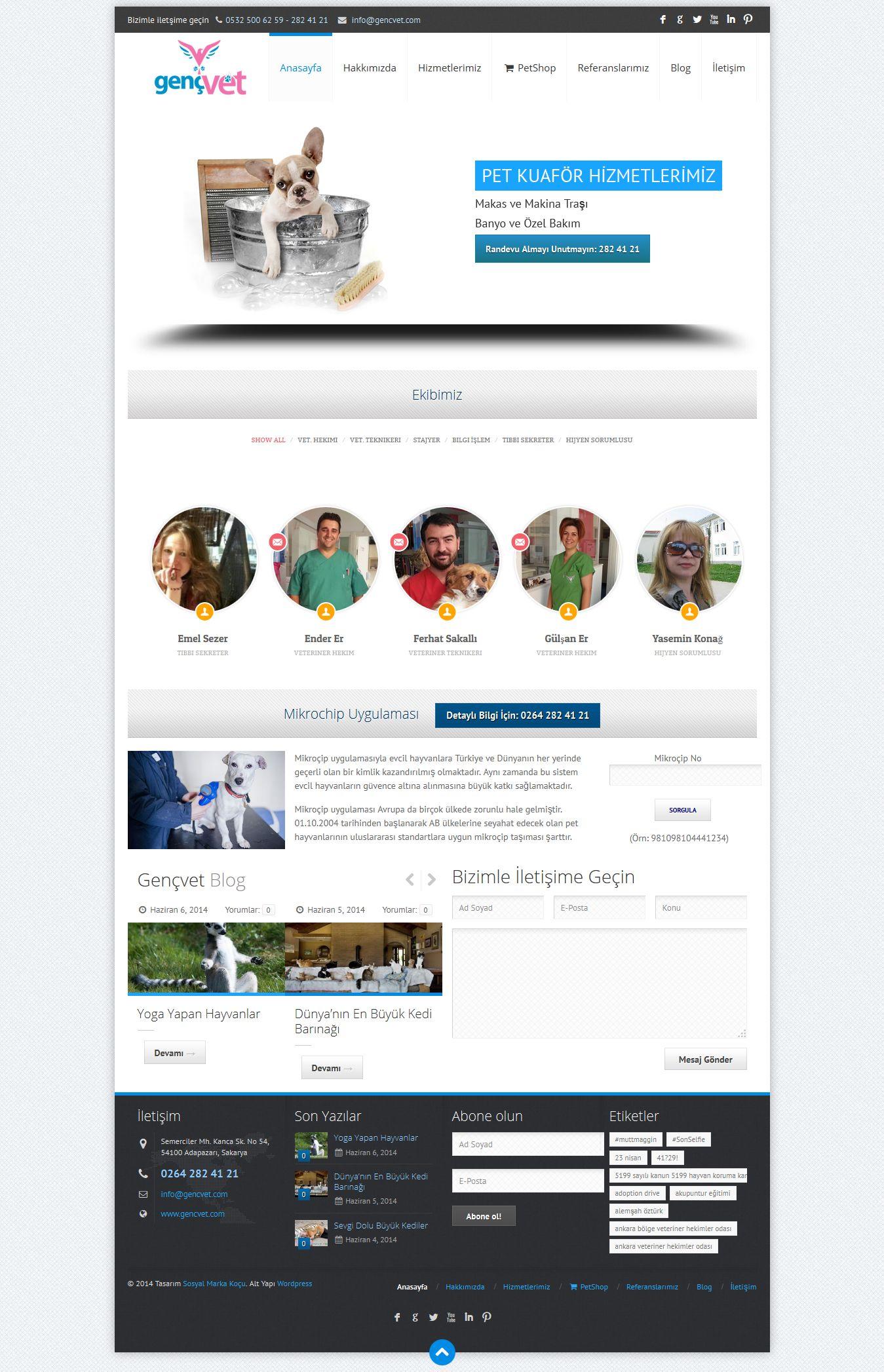 Gençvet Veterinerlik Veteriner Sitesi