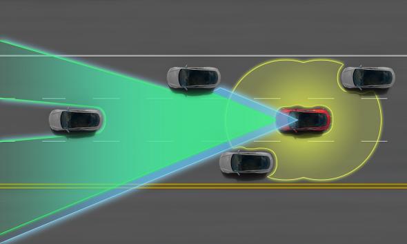 Tesla Otomatik Pilot Özellikli Araba