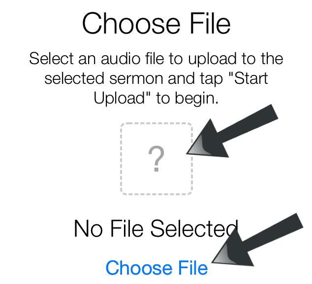 iphone uploads-select sermon in picker
