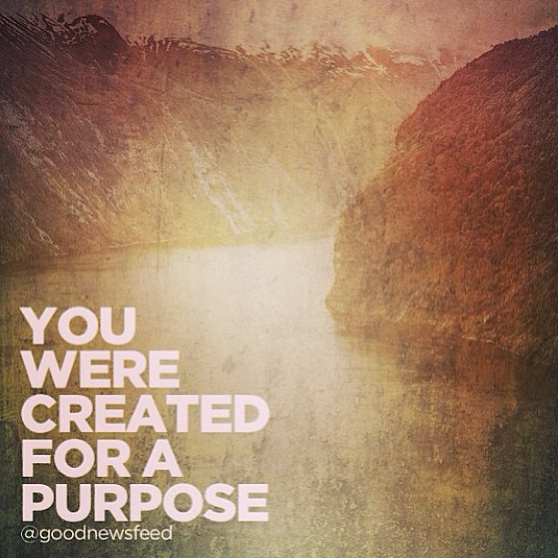 Image result for you were created for a purpose