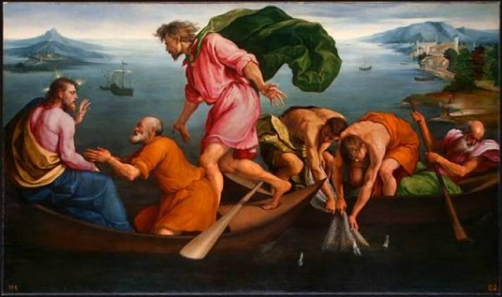 Image result for peter kneeling before jesus