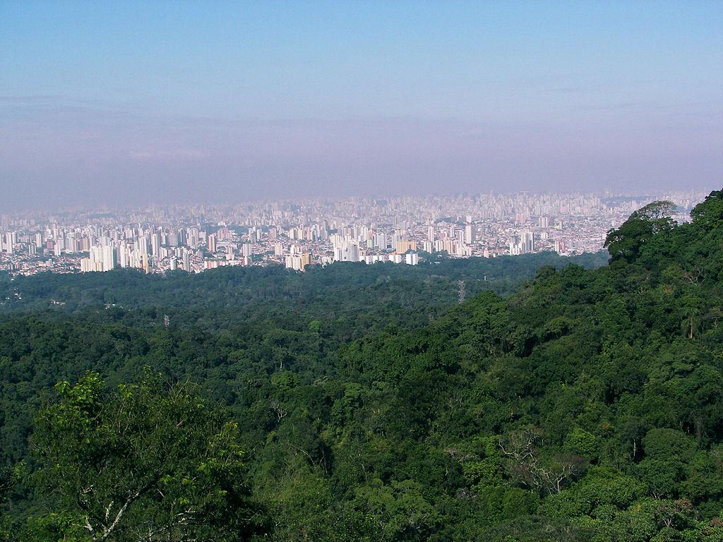 Serra da Cantareira vista da cidade de São Paulo. Altitude máxima ... e874eff88b