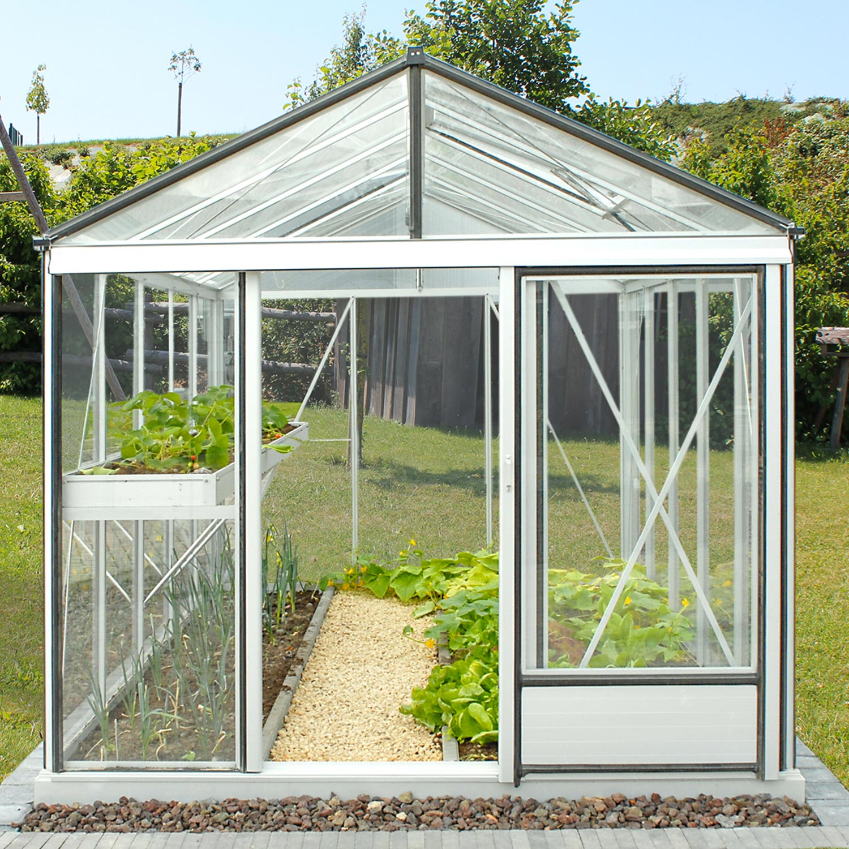 serre de jardin en verre trempe luxia 10 80 m aluminium 3290 00 livraison comprise