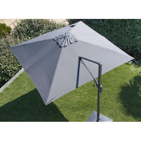 parasol deporte nh grey 3x3 m orientable et rotatif 6 coloris proloisirs