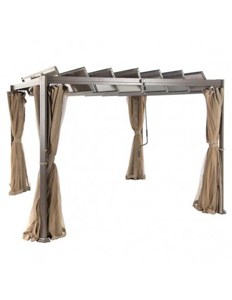rideaux pour tonnelle de jardin flamenco polyester hesperide