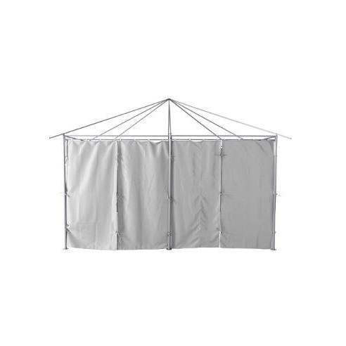 rideaux pour tonnelle santorini 3 x 4 m ardoise ou ecru hesperide