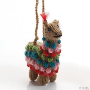 Christmas Ornaments Highland Alpaca Ornament