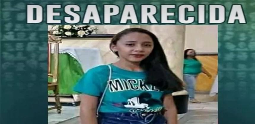 Adolescente de 14 anos desaparece em Pombal; Pais pedem ajudar para localizá-la