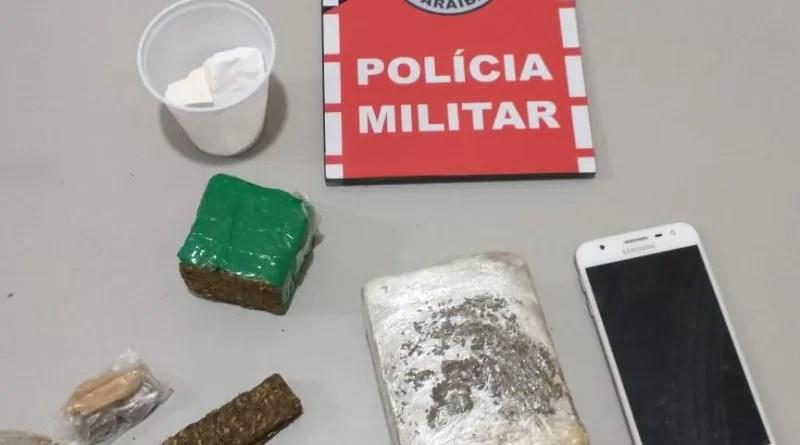 PM prende suspeito de tráfico e apreende drogas na cidade de Catolé do Rocha