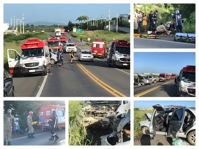 Colisão entre dois carros na BR 230 em Cajazeiras deixa cinco feridos