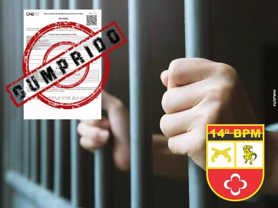 POLÍCIA MILITAR E POLÍCIA CIVIL CAPTURAM FORAGIDO DA JUSTIÇA EM POMBAL