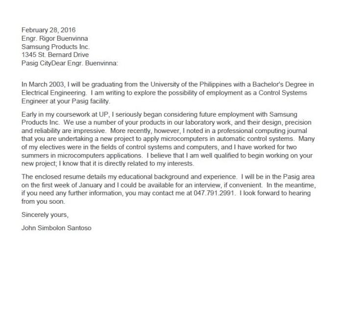 Surat lamaran kerja via email dalam bahasa Inggris