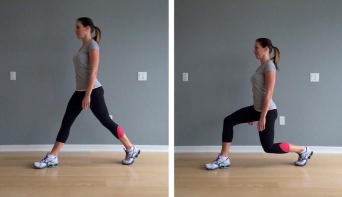 Olahraga Mengecilkan perut dengan static lunge