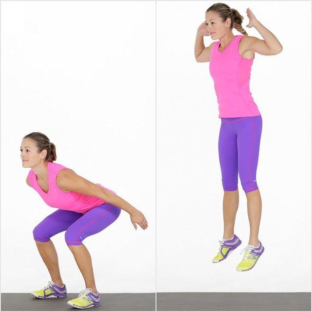 olahraga mengecilkan perut dengan tekhnik jumping squats