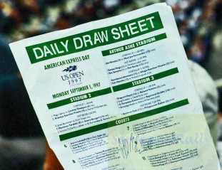 1997 US Open Draw Sheet