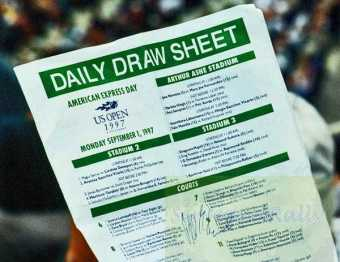 1997 US Open Draw Sheet