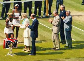 2002 Wimbledon Woman's Final Trophy Presentation