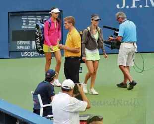 2012 US Open T. Pironkova & A. Ivanovic