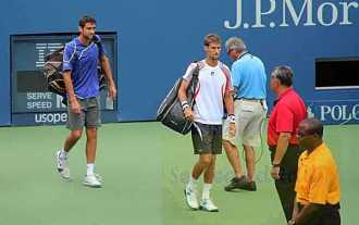 2012 US Open Marin Cilic and M. Klizan