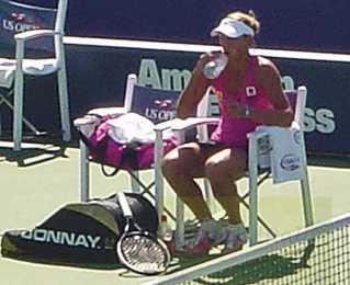 2010 US Open Yanina Wickmayer