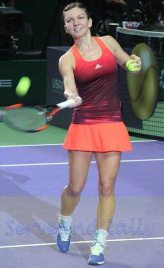 Halep hits ball to crowd2