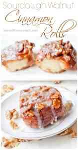 From Scratch Sourdough Walnut Cinnamon Rolls! The ultimate weekend brunch treat!!