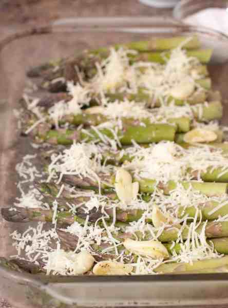 Garlic and Gruyere Roasted Asparagus