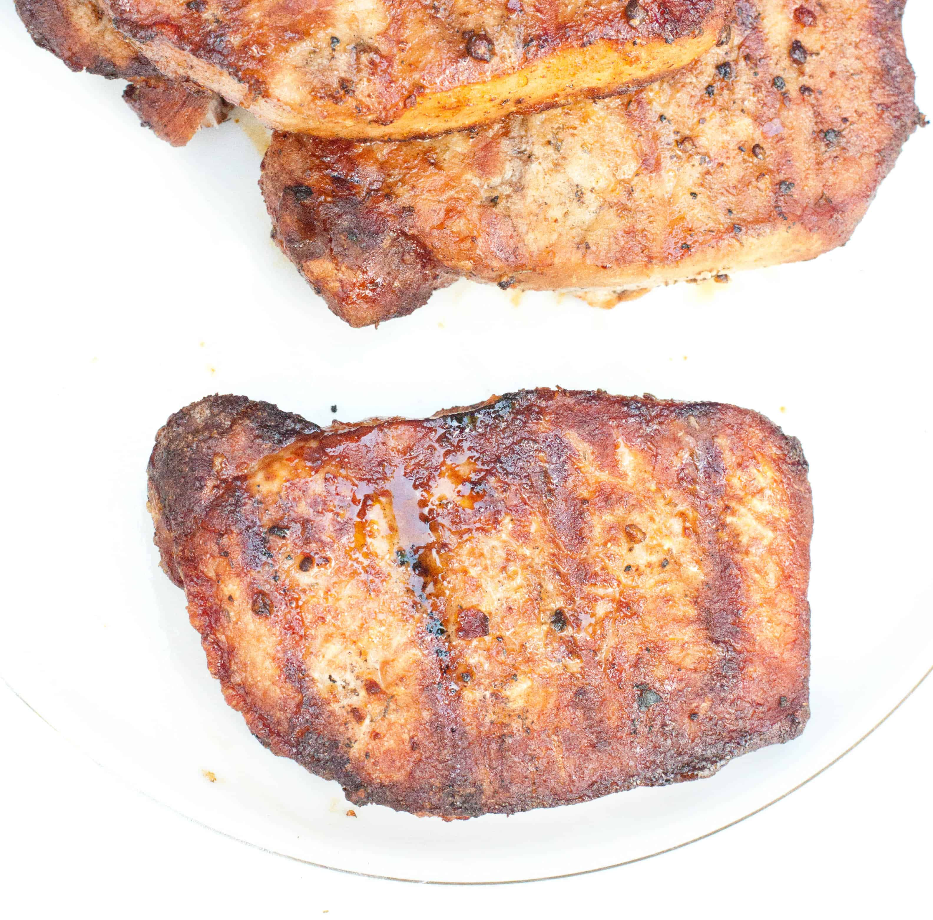 There's Something So Satisfying About Grill Marks On Your Food These  Boneless Chops Had Been In Our Freezer And I Had Totally Forgotten About  Them Until