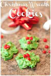 Just 5 ingredients and no baking required for these festive Christmas Wreath Cookies!