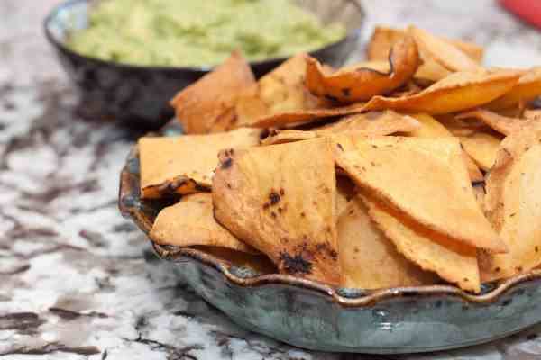 Corn tortilla chips from scratch