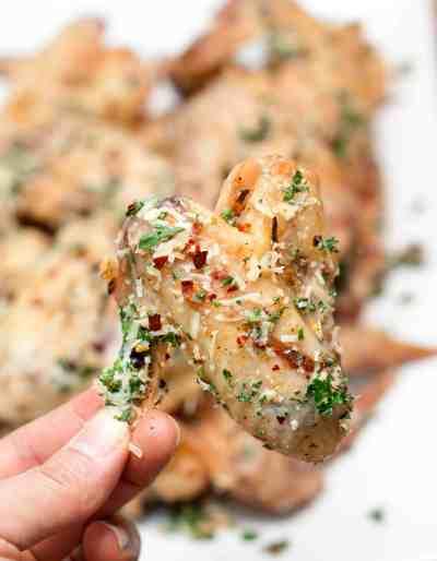Parmesan Garlic Baked Chicken Wings