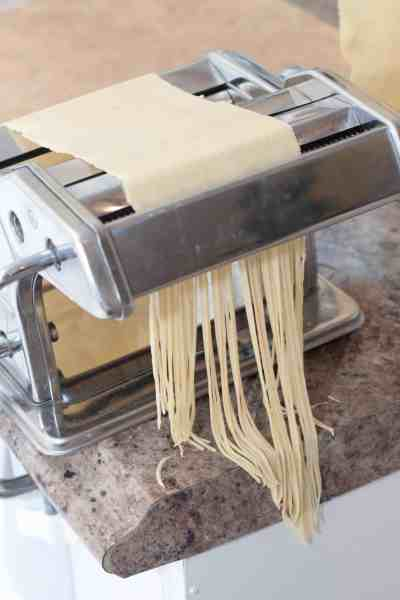 Making your own fresh pasta at home just takes 2 ingredients and the freshness makes it totally worth the extra work!