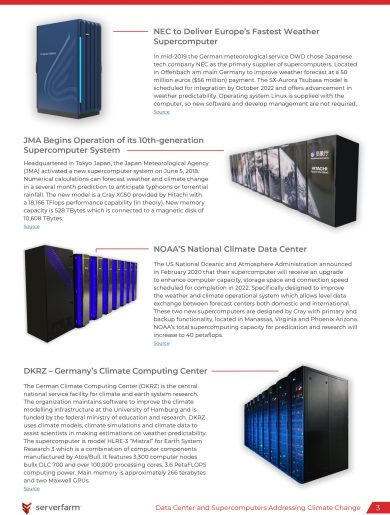 Supercomputers Addressing Climate Change and COVID-19