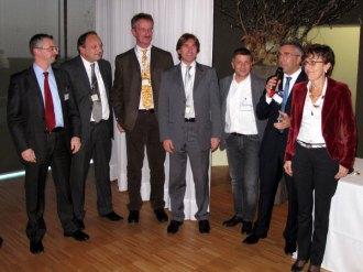 Giuliano Tonolli introduce la premiazione delle aziende Lonati, Veritas e Zignago