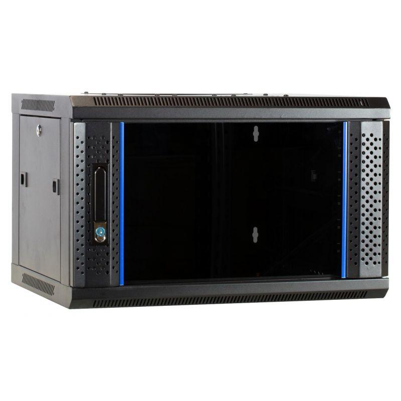 6u wall mount server rack unassembled with glass door 600x450x368mm
