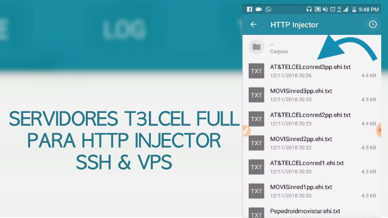 Servidores Telcel para Http Injector 2019 con y sin redes FULL