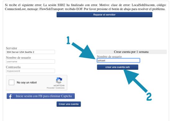 web para crear cuenta ssh online 2019 http injector
