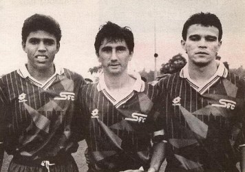 (Sonny Anderson à gauche, José Sinval au centre et Renato Canil à droite)