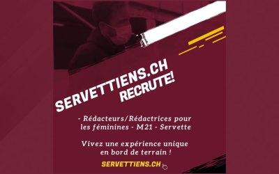 Servettiens.ch recrute pour sa rédaction !
