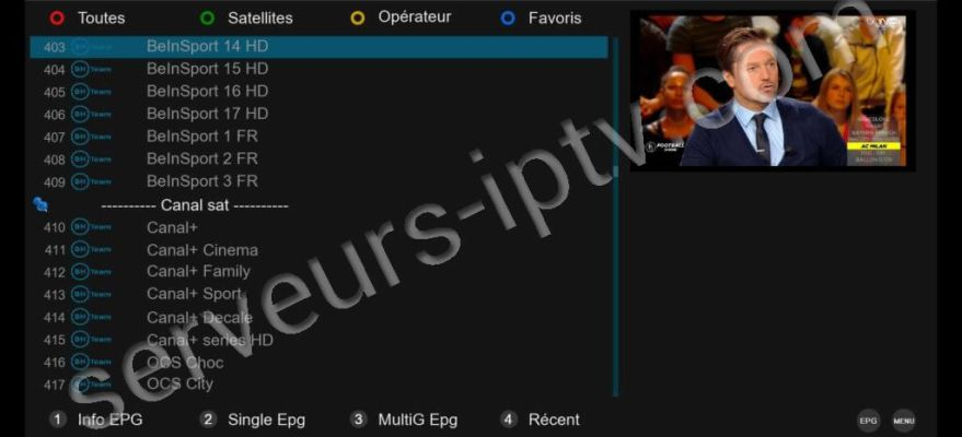 Comment installer un abonnement IPTV sur VU+ sous BLACKHOLE