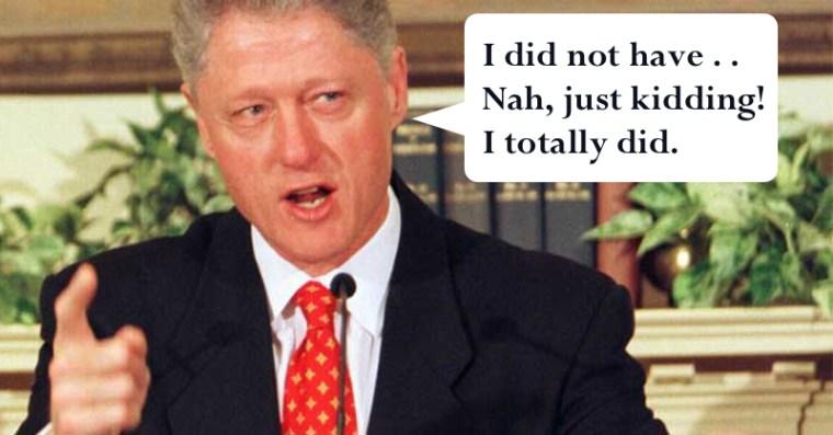Bill Clinton lied about Monica Lewinsky