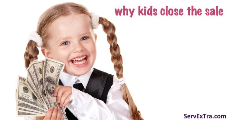 why kids close the sale