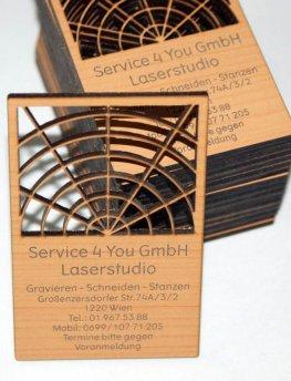 Holz Visitenkarten