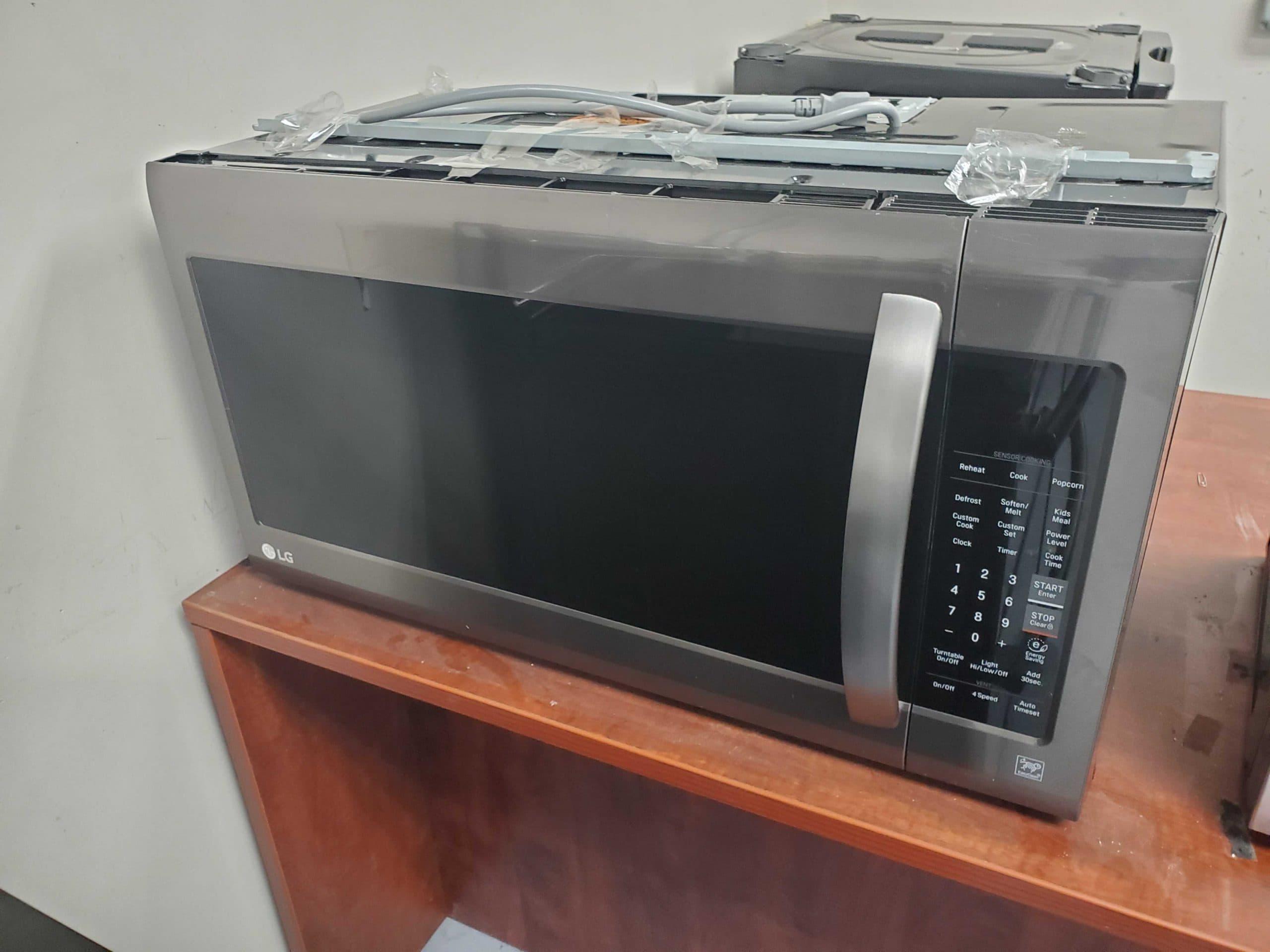 lg 2 cu ft over the range microwave with sensor cooking fingerprint resistant black stainless steel