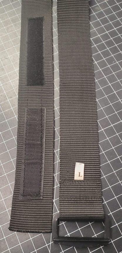 Black Nylon Adjustable Tactical Belt L