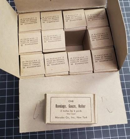 Vintage Marsales Co. Bandages - WWII Era