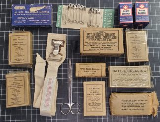 Mixed collection of original WWII era Bandages