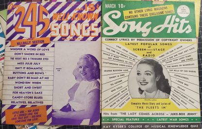 Hit Parader and Song Hits of the 1940s Lyrics Books
