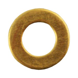 Washer Flat M6 Form B Brass