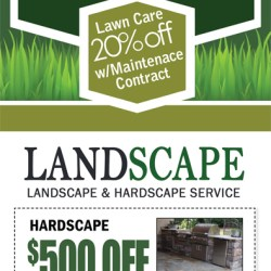 landscaping and lawn care door hanger gardening flower and vegetables